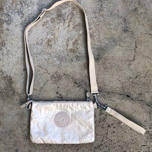Kipling metallic tan Creativity Crossbody / Clutch
